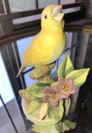Collectible yellow bird on a perch statue for Sale in Houston, TX