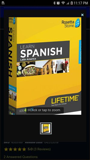 Rosetta stone Spanish 1-5 for Sale in San Marcos, TX