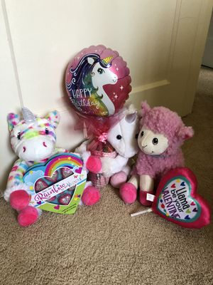 Plushies unicorns and llama for Sale in San Diego, CA