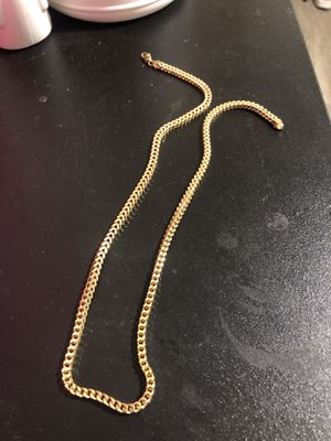 Franco chain 22inches Real Gold for Sale in Seattle, WA