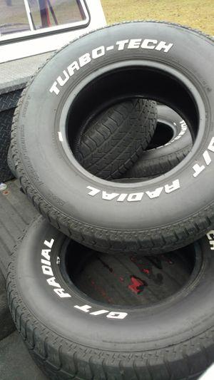 """15 """" White letter tires. for Sale in Hazlehurst, GA"""