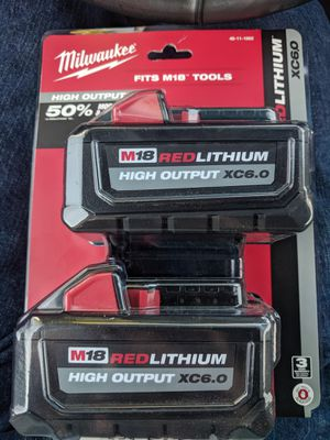 MILWAUKEE M18 6 AMP BATTERIES for Sale in Vallejo, CA