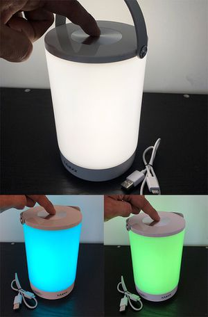 Brand new $15 Rechargeable Night Light LED Table Lamp w/ Touch Control White & Changing RGB Colors for Sale in Whittier, CA
