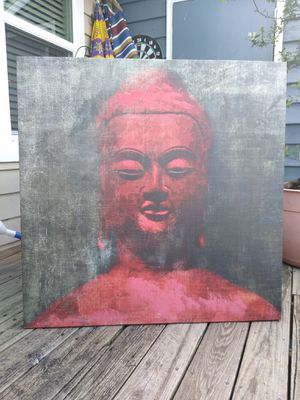 Large Hand Painted Buddha Canvas for Sale in Taylors, SC