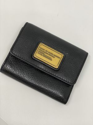 MARC JACOBS Black TriFold Leather Wallet for Sale in Orlando, FL