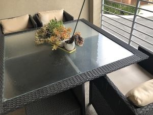 Outdoor table and chairs set for dining lounging for Sale in San Jose, CA