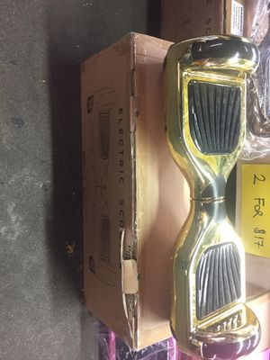 Electric Scooter (Hoverboard) Chrome Gold for Sale in Houston, TX