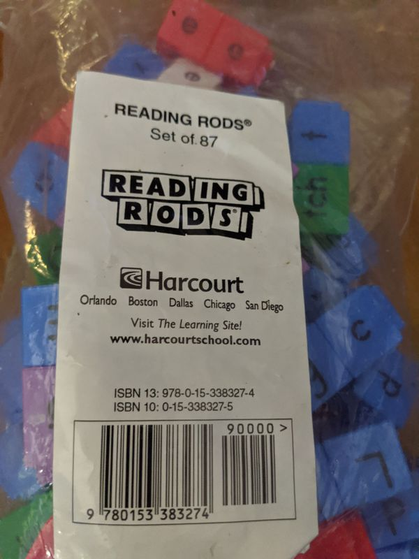 HARCOURT SCHOOL PUBLISHERS Moving Into English: Reading Rods (5 sets of 87 rods) Grades K-5