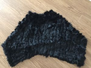Used, Real Rabbit fur poncho (below shoulder length) for Sale for sale  Jersey City, NJ