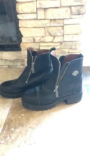 Harley Davidson Leather Motorcycle boots for women- size 7.5 for Sale in Rancho Santa Margarita, CA