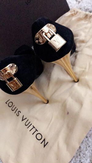 Black Peep Toe Louis Vuitton Heel for Sale in Philadelphia, PA