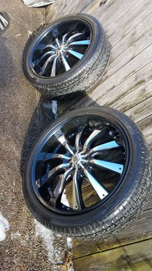 24 inch helo rims fresh meat for Sale in Columbus, OH