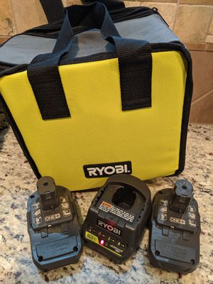 New Ryobi batteries, charger and tool bag for Sale in Cypress, TX