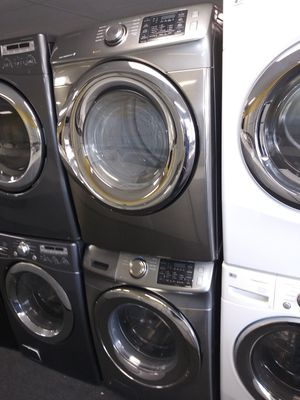 Samsung electric front load set washer and dryer in exellent condition for Sale in Laurel, MD