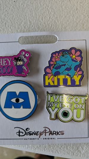 Disney monsters University collectible pin set new 10$ for Sale in Pico Rivera, CA