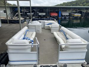 Upholstery only pontoon boat not for sale for Sale in San Antonio, TX