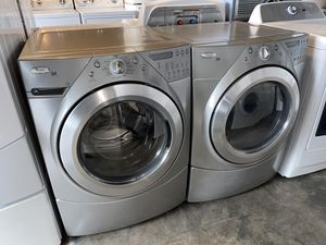 WHIRLPOOL XL CAPACITY STACKABLE WASHER DRYER ELECTRIC 90 DAYS WARRANTY for Sale in Vancouver, WA