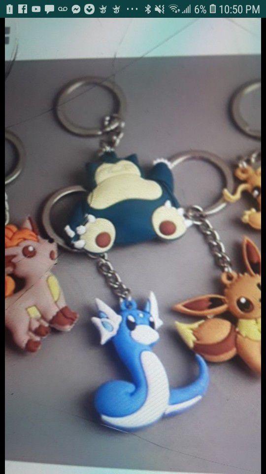 Pokemom key chains