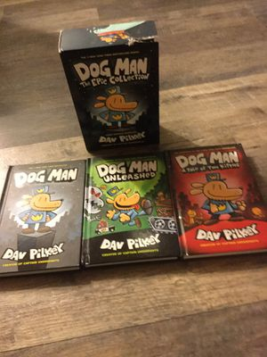 3 Dog man books by Dav Pilkey for Sale in Newark, CA