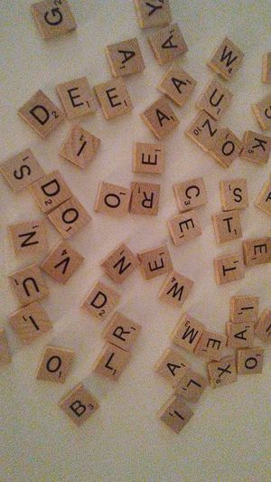Scrabble wooden letter tiles 482 letters plus 10 blanks. Firm price. Deer vly 67th ave pikup only for Sale in Glendale, AZ