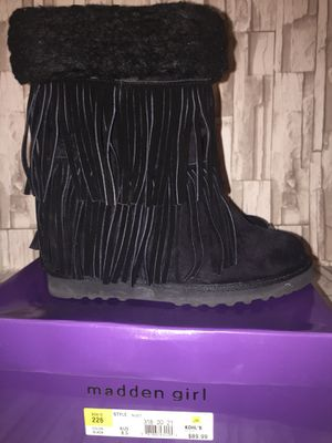 Madden Girl Suede Fringe Wedge Boots for Sale in Springboro, OH