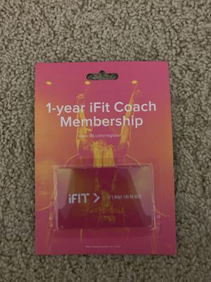 iFit coach membership card valid for 1 year for Sale in Portland, OR