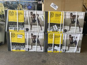 Gold's Gym Vinyl Dumbbell Set, up to 40 lbs on each dumbbell for Sale in Carol Stream, IL