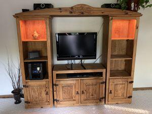 Wood Entertainment Center TV Stand for Sale in Phoenix, AZ