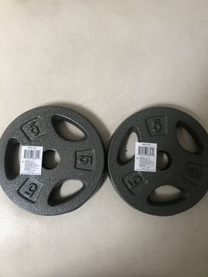 Cap set of two 5 pound weights for Sale in Fort Pierce, FL