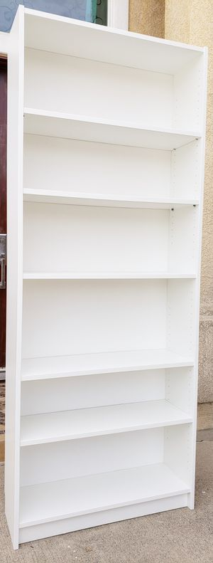 Lk NEW Ikea 6 Tier White Adjustable Shelves Bookcase Bookshelves Organizer Stand Unit Pantry Kitchen Bath + Adjustable Shelves INCLUDED for Sale in Monterey Park, CA