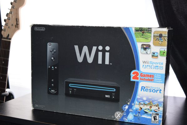 Wii Black Edition With Two Games