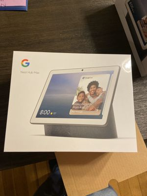 Google Nest Home Hub Max Charcoal (New Sealed) for Sale in Swansea, MA