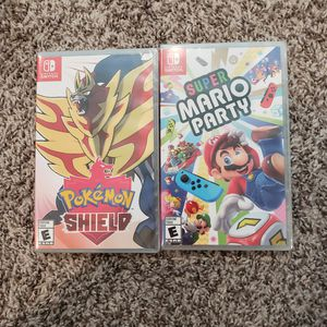 Switch Pokemon Shield and Super Mario Party for Sale in San Diego, CA