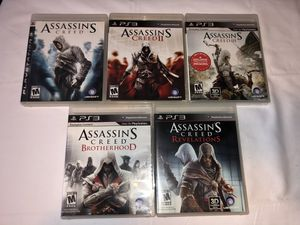 Assassin's Creed 1, 2, 3, Brotherhood, and Revelations for Sale in Minnetrista, MN