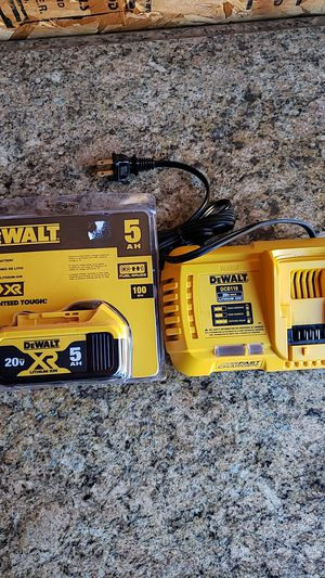 Dewalt 20v 5.0 and fast charger brand new $75 FIRM NO OFFERS for Sale in Fresno, CA
