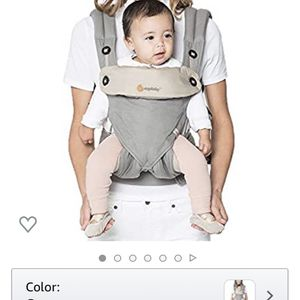 Ergobaby 360 All-Position Baby Carrier with Lumbar Support (12-45 Pounds), Grey for Sale in Los Angeles, CA