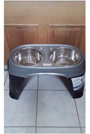Dog dishes elevated stand for Sale in Tinley Park, IL