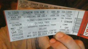 Oliver tree tickets for Sale in Indianapolis, IN