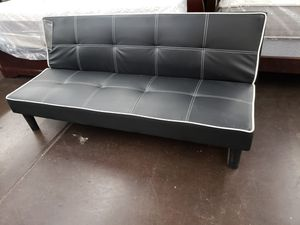 Black leather futon bed for Sale in North Highlands, CA