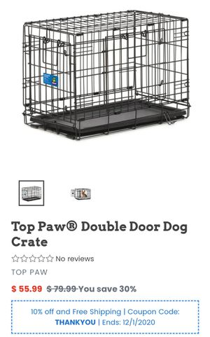 Dog create double door folding for Sale in Vancouver, WA