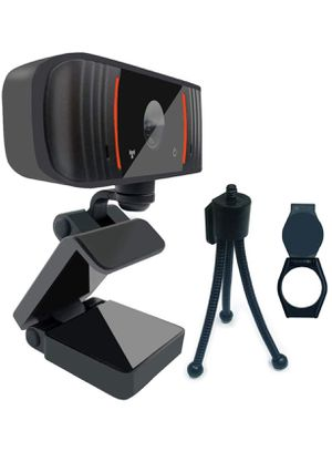 1080P Webcam with Microphone Privacy Cover,Tripod and Clip,USB 2.0 PC Laptop Desktop Web Camera Auto Light Correction for Video Call Study Online Cla for Sale in El Paso, TX