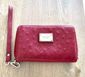 MICHAEL KORS - Pink Ostrich Wristlet / Wallet for Sale in Miami, FL
