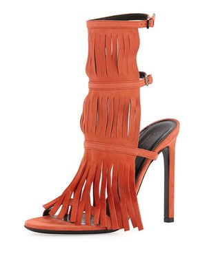 GUCCI - Becky Suede Fringe Sandal Size 37 EU/7 US - Brand New with Dustbag and box! NEVER WORN! for Sale in Pembroke Pines, FL