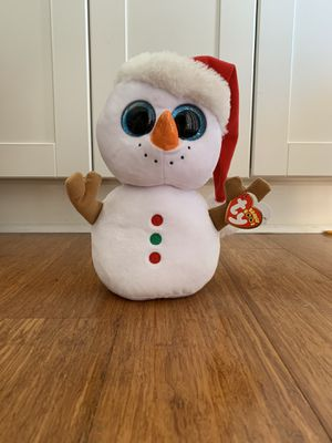 Christmas Snowman with Santa Hat Beanie Boo ty for Sale in Winter Springs, FL