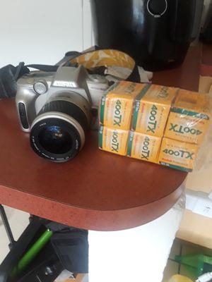 Minolta Maxxum 50 film camera + 6 rolls b&w film for Sale in Miami Shores, FL