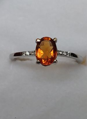 Sterling silver Golden Citrine S. 9 Ring for Sale in Bonney Lake, WA