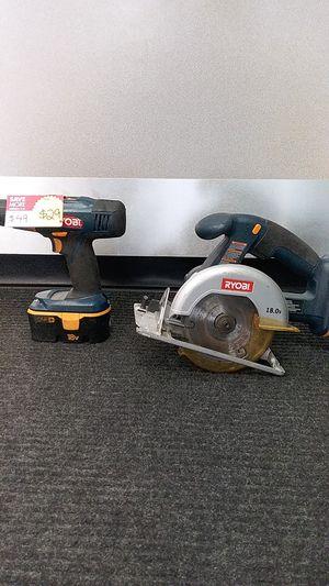 Circular Saw Ryobi, model: P501, Drill model:P204 for Sale in Miami, FL