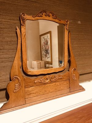 Antique dresser-top beveled Mirror for Sale in Odenton, MD
