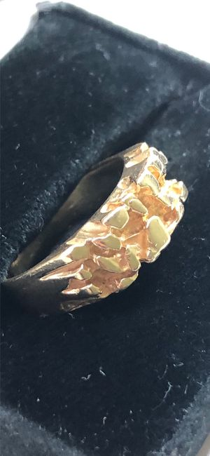 14k solid gold nugget ring oro for Sale in South Gate, CA