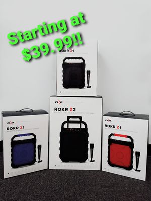 Rokr Z1 & Z2 Bluetooth speakers at Cricket Wireless for Sale in Lincoln, IL